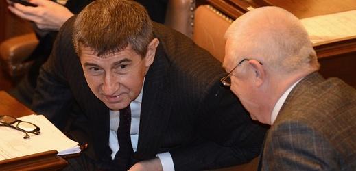 Andrej Babiš a Jaroslav Faltýnek.