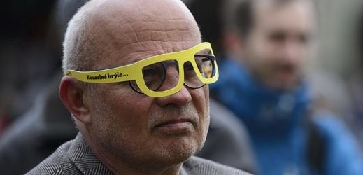 Prezidentský kandidát Michal Horáček na happeningu.