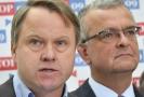 Předseda Liberálně ekologické strany Martin Bursík (vlevo) a předseda TOP 09 Miroslav Kalousek.