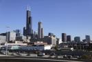 Panorama Chicaga. Nejvyšší mrakodrap - Willis Tower (Sears Tower).