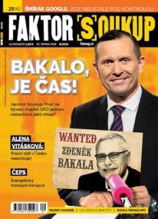 Aktuální obálka časopisu Faktor Soukup.